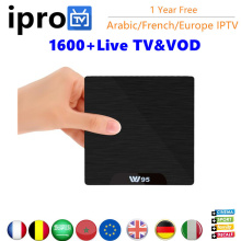 W95 Android 7.1 TV Box Amlogic S905W Quad Core 1GB 8GB IPTV box with 12 months IPROTV Belguim French Africa Europe Arabic iptv(China)