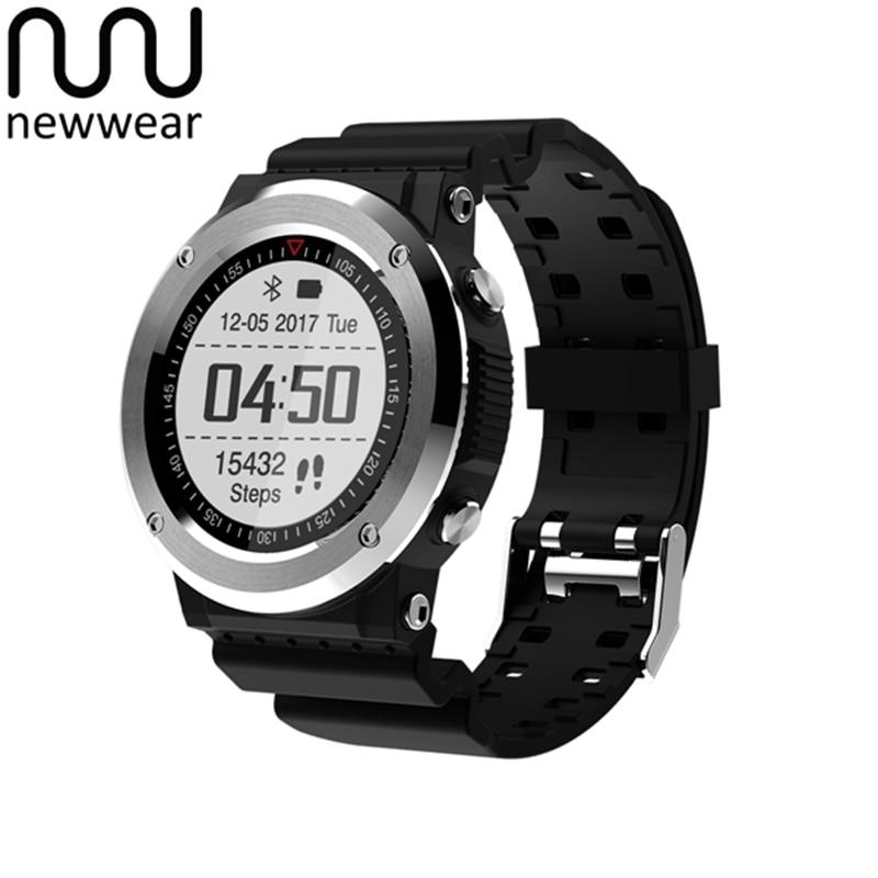 Newwear Q6 Waterproof GPS Tracker Compass Heart Rate Monitor Sports Mode Fitness Tracker Bluetooth Portable