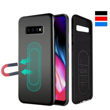 Magnetic Car Phone Case for Samsung Galaxy S10 Plus S10e Huawei P30 Mate20 Pro Built-in Magnet Plate Soft TPU Shockproof Cover(China)