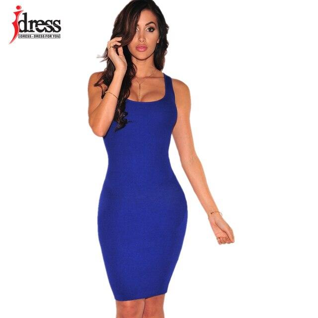 fa97f185b IDress Roupas Femininas 2016 Sexy Preto Azul Royal Voltar Lace Up Vestidos  de Verão Do