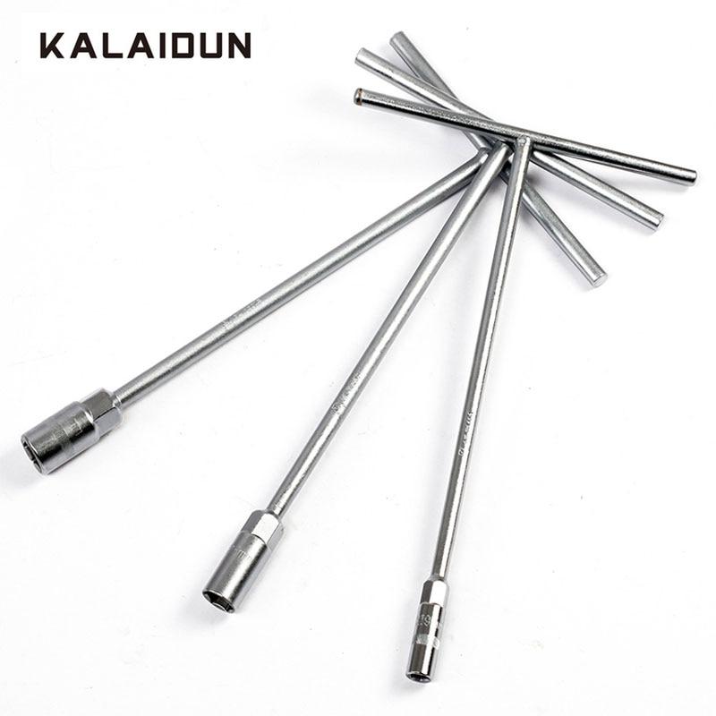 KALAIDUN Wrench Chromium Vanadium Steel T Type Socket Wrench Hex Key Auto Professional Tools 8/9/10/11/12/13/14/15/16/17/19mm