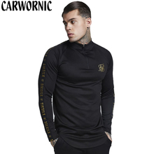 CARWORNIC Casual T-shirt Men Elasticity Long Sleeve Gyms T Shirt Mens Quick Dry Breathable Fitness Bodybuilding Fashion T-shirt stretchy quick dry long sleeve t shirt