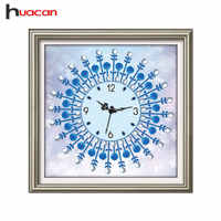 Huacan Special Shape Diamond Mosaic Embroidery Clock Cross Stitch Diamond Painting Rhinestones Craft Kits Unfinished Home Decor