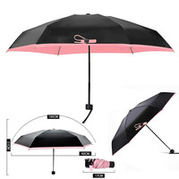 1 PC עיצוב החדש קומפקטית Windproof אנטי UV גשם שמש שמשייה נסיכה קוריאנית מתקפל מטרייה + תיק VBX88 T50