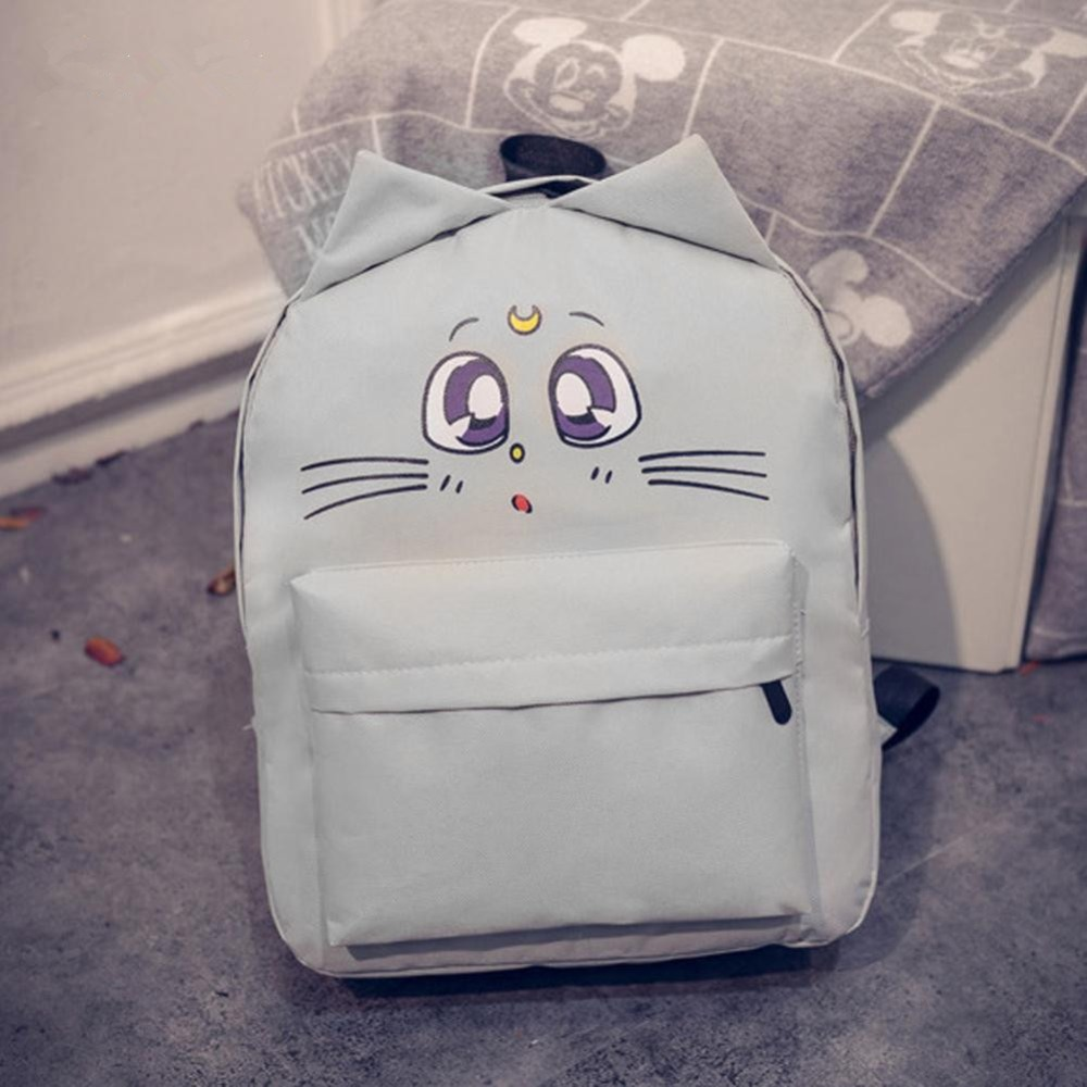 Free shipping Cat Backpack For sailor moon backpack for Teenage Travel Back Pack Sailor Moon Canvas Backpack Mochila Escolar