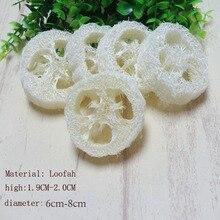 150pcs/lot diameter 6-8cm Natural Loofah Slice  DIY customize soap tools,cleaning supplies,sponge scrubber,facial soap