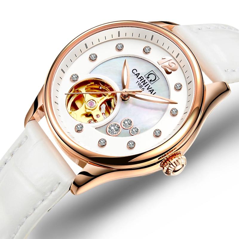 Switzerland Carnival Women Watches Luxury Brand ladies Automatic Mechanical Watch Women Waterproof relogio feminino C0682-5 luxury brand 100 page 5