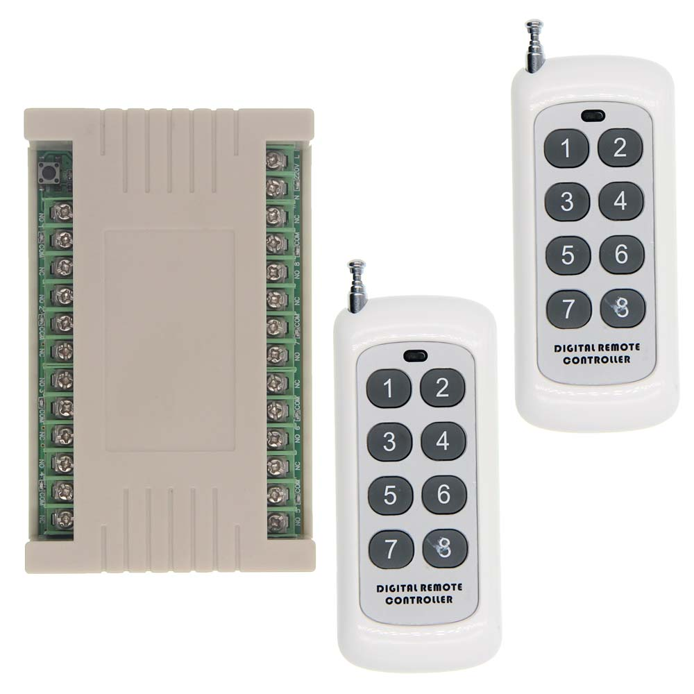 315//433MHZ Wireless Remote Control AC 220V Up Down Switch Receiver Transmitter
