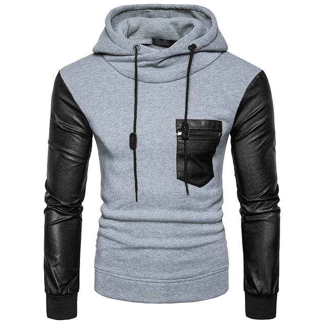 2017 one pockets Hoodies Men's casual tops Brand Hoodie Pullovers ...