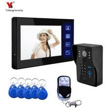 Yobang Security Video Door Phone With RFID and Password or Remote to Open Door For Hotel/Apartment/Office Room Door Intercom