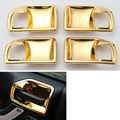 Gold 4Pcs Inner Handle Bowls Cover Trim Frame For Wrangler 11-16 4 Doors