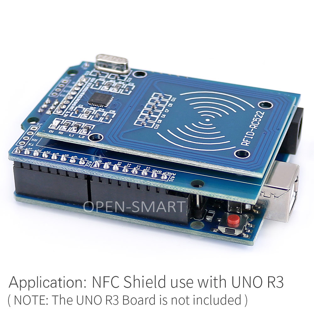 US $4 42 6% OFF|NFC Shield RFID RC522 Module RF IC Card Sensor + S50 RFID  Smart Card for Arduino UNO / Mega2560-in Industrial Computer & Accessories