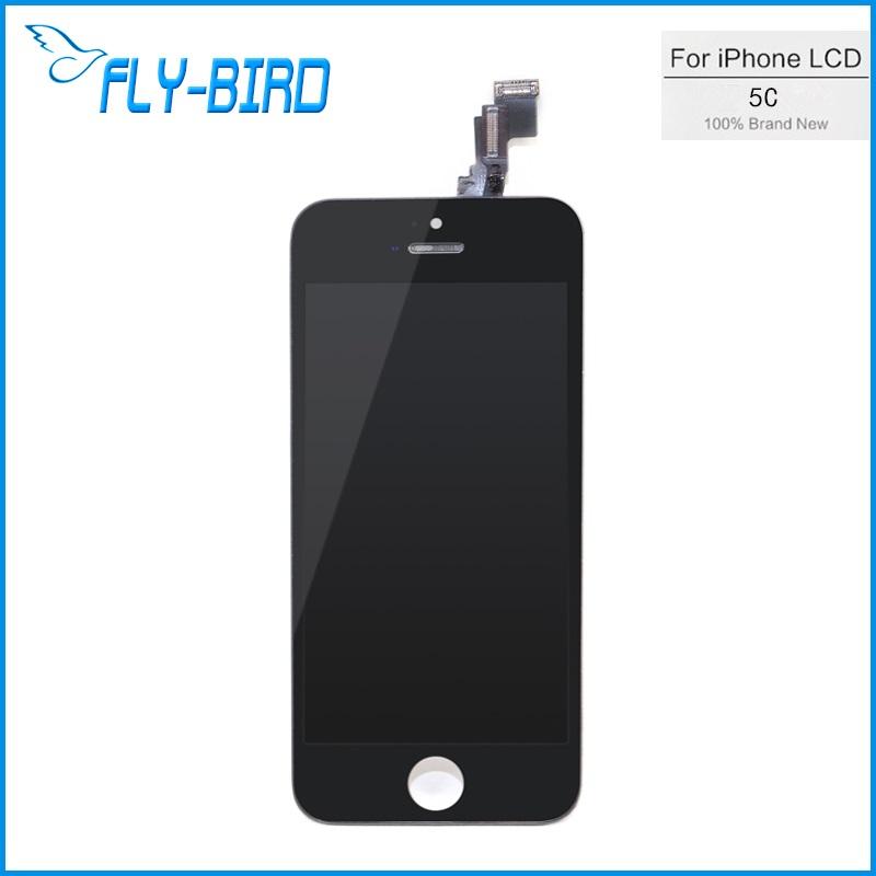 Prix pour 10 pcs/lote Lcd pour Iphone 5c écran tactile Digitizer assemblée + remplacement pour Iphone 5c écran de verre livraison gratuite