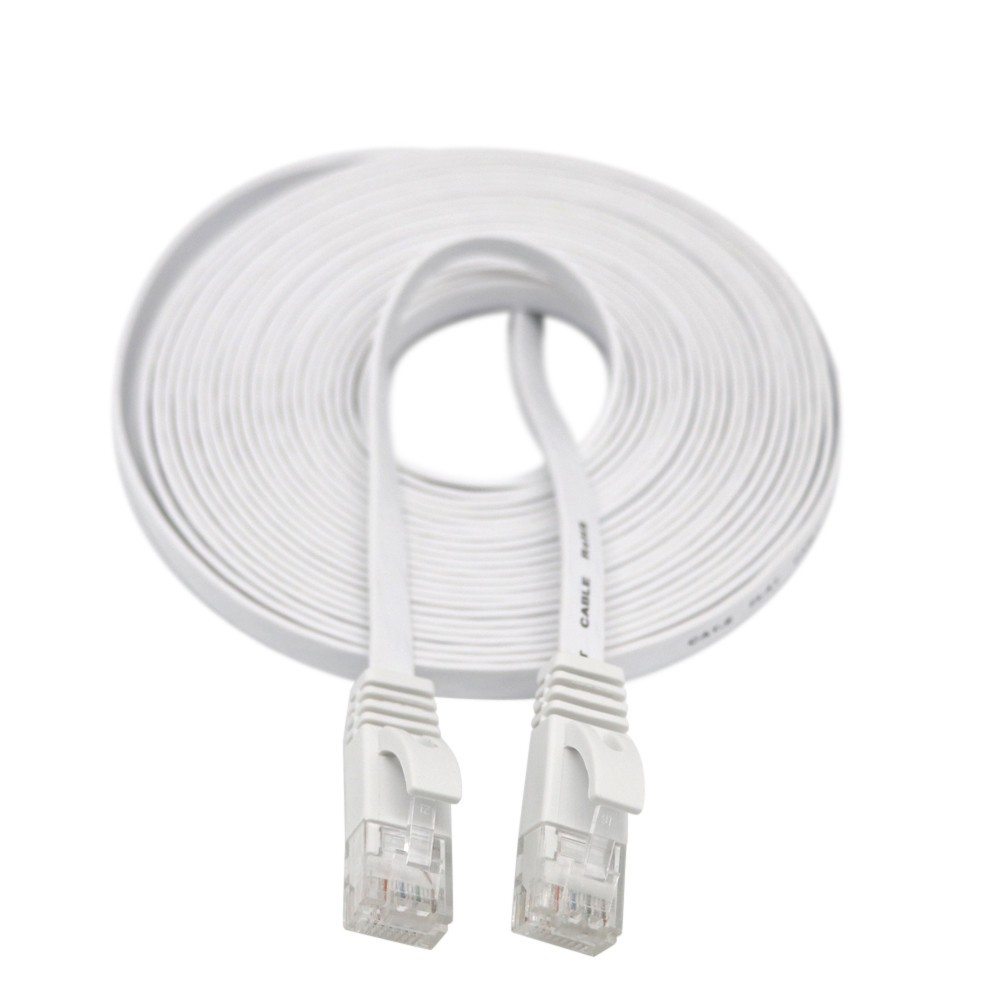 LANDFOX 2020 New   20M RJ45 CAT6 Ethernet Network LAN Cable Flat UTP Patch Router Interesting Lot In Stock Dropshipping