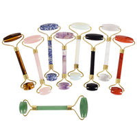 Wholesale Natural Stone Facial Massage Roller Practical Jade Face Anti Wrinkle Body Head Portable Beauty Health