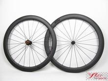 Farsports FSC50-TM-25 ED HUB Road bicycles V brake high TG resin carbon wheels 50mm, carbon bike wheels 25mm wide rims