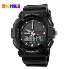 Skmei военные спортивные часы 1050, водонепроницаемая солнечные спортивные наручные часы батареи, открытый спортивные часы солнечные часы власти