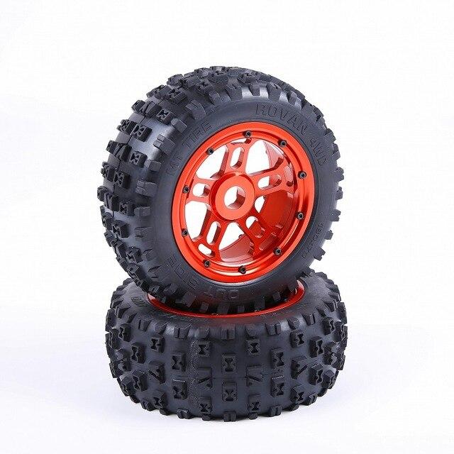 1/5 pièce de rechange de camion rc Losi 5ive-T 5 T Rovan LT KM X2 moyeu de roue en alliage avec pneu à ongles
