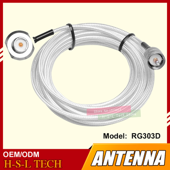 free ship 10m 20m teflon rf coaxial cable rg142 od 5mm cable connector 50ohm m17 60 shield cable Antenna Connector Extend Cable 5Meter Feeder Cable High Screen Clip Side Line For Car Radio Teflon Coaxial Cable PL259