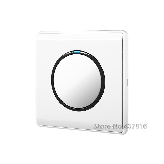 High Quality Funshion Click Switch 1 Gang Way 2 Pressure Push On Light Wall With Led Indicator