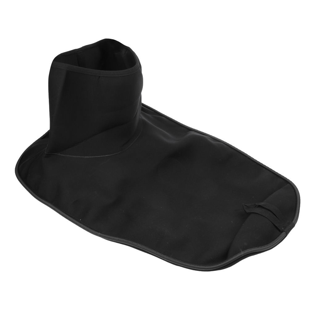 Black Canoe Kayak Marine Boat Spray Deck Skirt Cover For 86cm Waist Circumference Water Sports Replacement