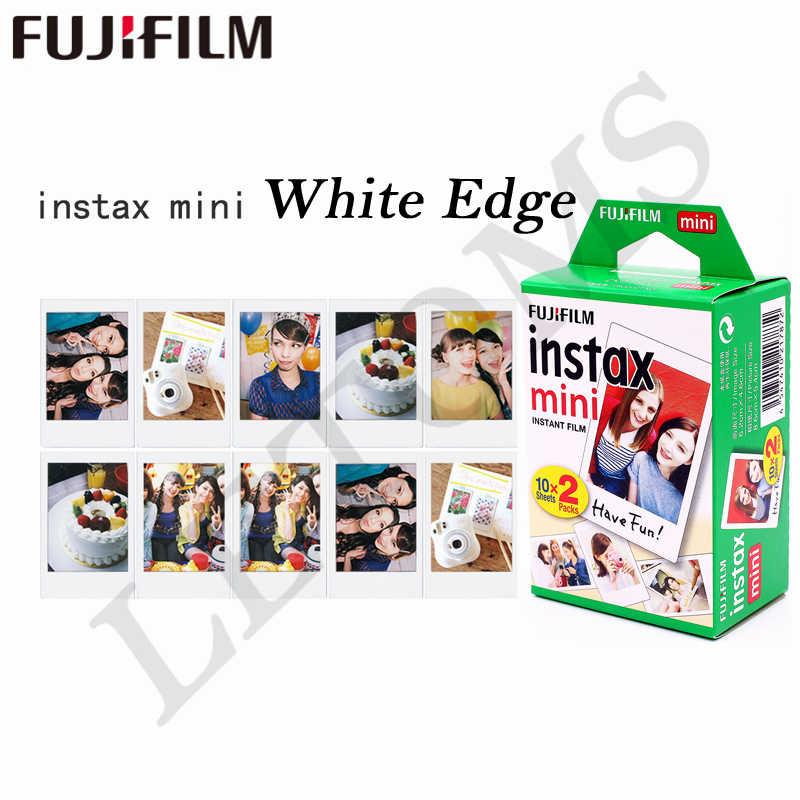 10-200 Lembar Fuji Fujifilm Instax Mini 9 8 Putih Tepi Film Warna Fims untuk Instax Kamera