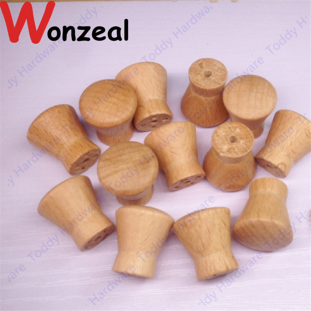 10pcs Dia.18mm*20mm Wooden Furniture Handle Drawer Knob Pull Cabinet Knob Wood Knob