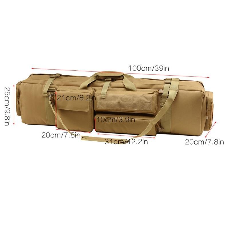 100 CM Polyester sac de chasse en plein Air équipement tactique armée chasse sac à dos Air pistolet carré pistolet sac - 3