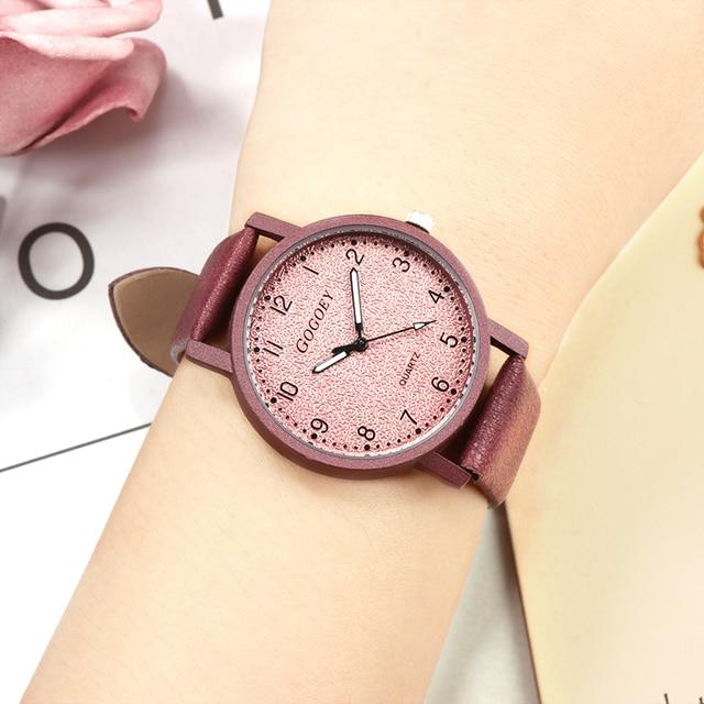GoGoey Women's reloj mujer Bracelet Watches Quartz Leather Wristwatch Fashion Dr