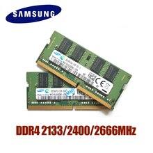 SAMSUNG DDR4 RAM 4G 8G 16G pamięć RAM do laptopa 2133 2400 2666MHz 1.2V pamięci DRAM kij dla Notebook laptop 4GB 8GB 16GB pamięci RAM