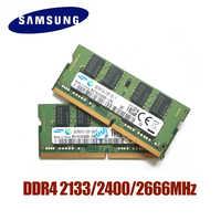 SAMSUNG DDR4 RAM 4G 8G 16G mémoire d'ordinateur portable RAM 2133 2400 2666MHz 1.2V DRAM Stick pour ordinateur portable 4GB 8GB 16GB RAM
