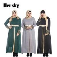 Muslim Abaya clothes Turkey Women Satin Chiffon long dress pictures Fashion Lady islamic abayas dresses 7XL Plus size clothing