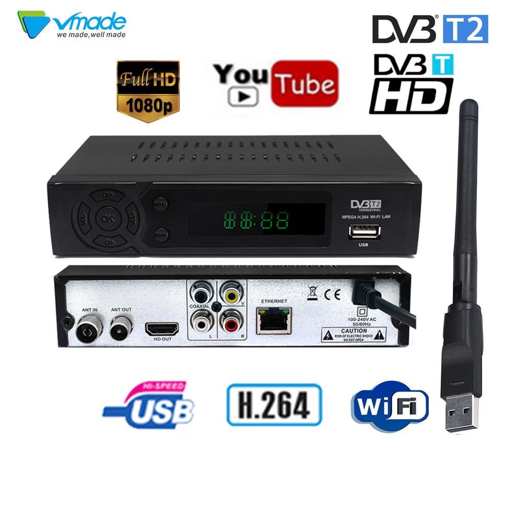 New DVB-T2 DVB-T Satellite Receiver HD Digital TV Tuner Receptor MPEG4 DVB T2 H.264 Terrestrial TV Receiver DVB T Set Top Box