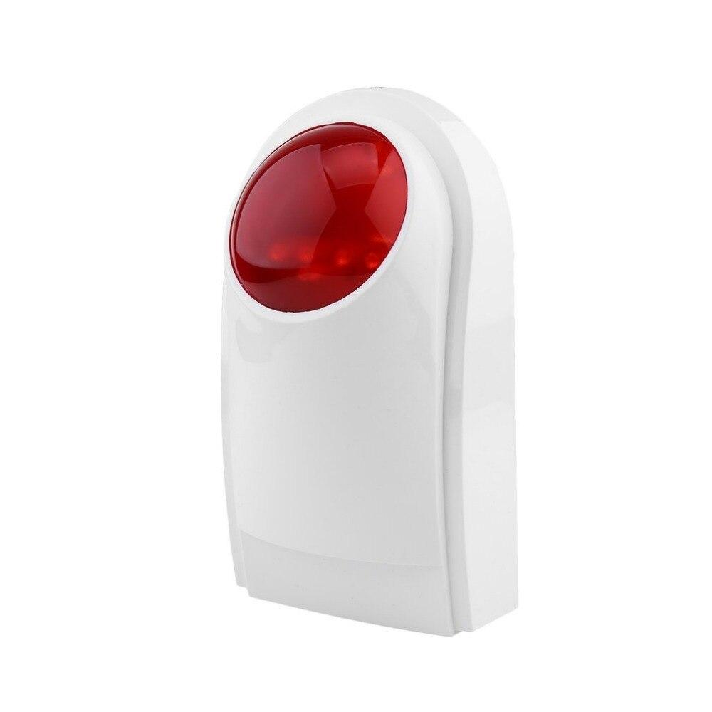 Alarma inalámbrica Sirena de Destello Al Aire Libre A Prueba de agua Flash Estroboscópico Sirena De Alarma de Sonido Para Wif GSM PSTN Seguridad Para el Hogar Sistema de Alarma