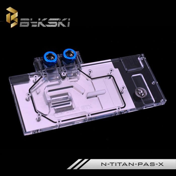 Bykski N TITAN PAS X GPU cooler for GTX TITAN X Pascal/xp gtx 1080TI 1080 1070 Graphics Card Water Cooling Block ,RGB/RBW light