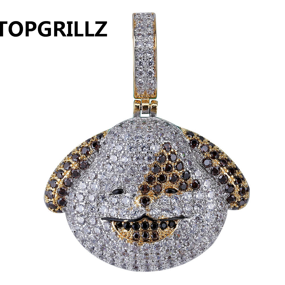 cedc1f60e ... Gifts for Men Women. . TOPGRILLZ Personalized Iced Out Emoji Pendant  Necklace Gold Silver Chain Hip Hop Jewelry With Tennis Chain. sku:  32924255137