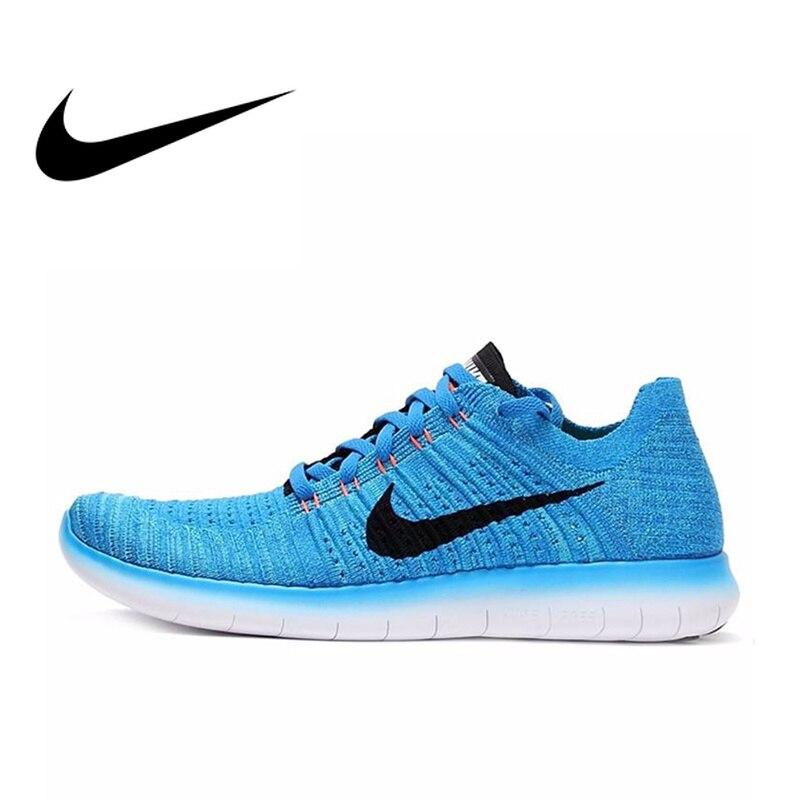 Chaussures de course officielles NIKE FREE RN FLYKNIT pour hommes chaussures de sport respirantes sports de plein air Jogging athlétique 831069
