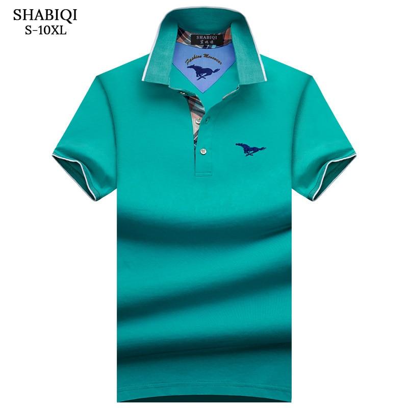 SHABIQI Brand clothing 2018 New Men   Polo   Shirt Men Business & Casual solid male   polo   shirt Short Sleeve breathable shirt S-10XL