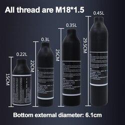 Пейнтбол страйкбол PCP воздушный бак для альпинизма Дайвинг цилиндр 4500psi30MPA 0,2 0,35 0.45L HPA бутылка с высоким сжатым воздухом M18 * 1,5