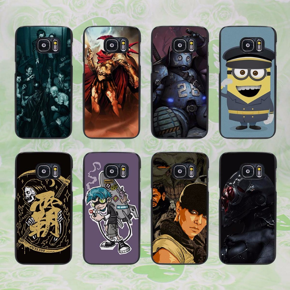 Pics photos batman logo evolution design for samsung galaxy case - Clown Vs Batman Design Hard Black Phone Case Cover For Samsung Galaxy S8 S8 Plus S7