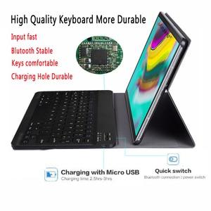 Image 3 - ספרדית מקלדת Case עבור Samsung Galaxy Tab S5e 10.5 2019 T720 SM T720 SM T725 Tablet Slim עור כיסוי מקלדת Bluetooth