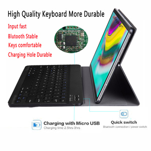 Image 3 - Spanish Keyboard Case For Samsung Galaxy Tab S5e 10.5 2019 T720 SM T720 SM T725 Tablet Slim Leather Cover Bluetooth Keyboard