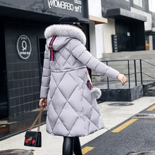 Women Winter Jackets And Coats 2018 Casual Long Sleeve Big Fur Collar D