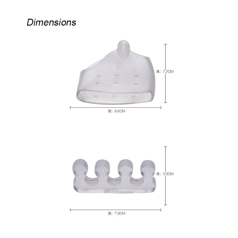4PCS Reusable Silicone Gel Toe Separator Toe Corrector for Women Hallux Valgus Straighter Feet Care Bunion Stretcher T0480SHD 1