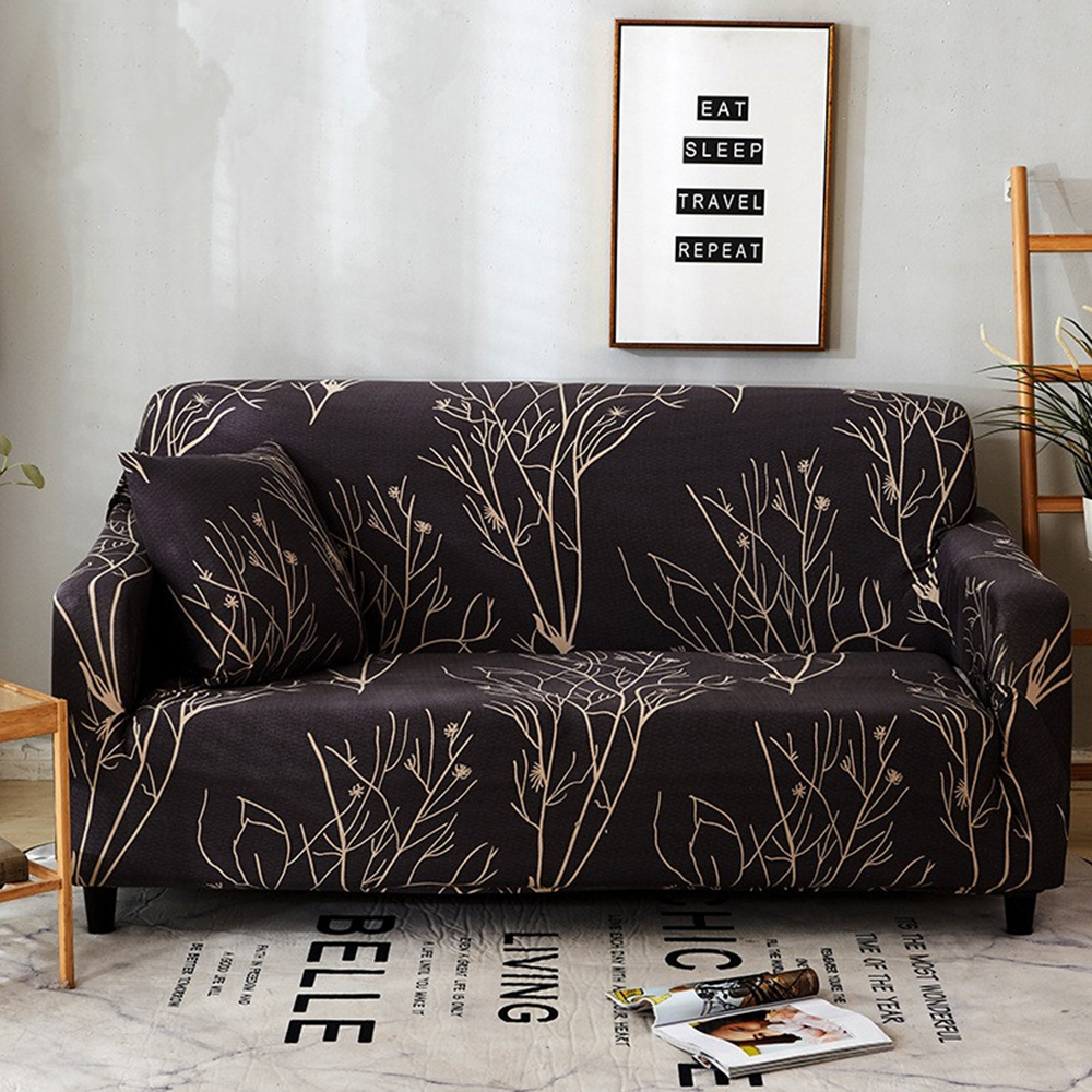 Sofa Cover Black Fundas De Sofa 2 Y 3 Plazas Slipcover Tree Branch Armchair  Cover Canape Salon Protector Couch Affordable Chair Covers Cheap Chair ...