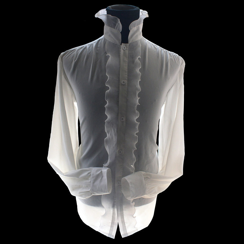 MJ Michael Jackson The Ghost White Reyon Poplin Classic Rayon White ... 72664cd1f