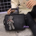 Envío libre, 2016 nuevos bolsos de mano, rombo mujer messenger bag, elegante OL, bolso oso Correa de hombro, coreano bolsa de shell.