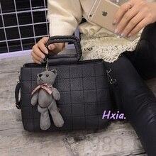 Freies verschiffen, 2017 neue handtaschen, raute frau umhängetasche, stilvolle OL handtasche, bär Strap umhängetasche, koreanische shell tasche.