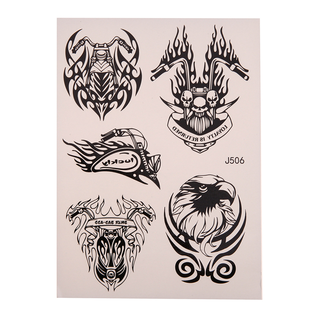 Baru Waterproof Hitam Temporary Tattoo Profesional Keren Hewan Singa