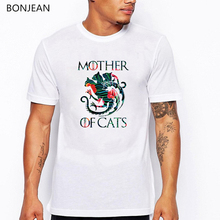 Dracarys tshirt homme Game of thrones T-Shirt Mother Dragons dogs cats Vintage T shirt Camisetas hombre top Men Clothing 2019